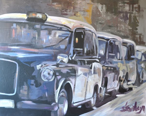 Automobiles Original Paintings by Steph Fonteyn