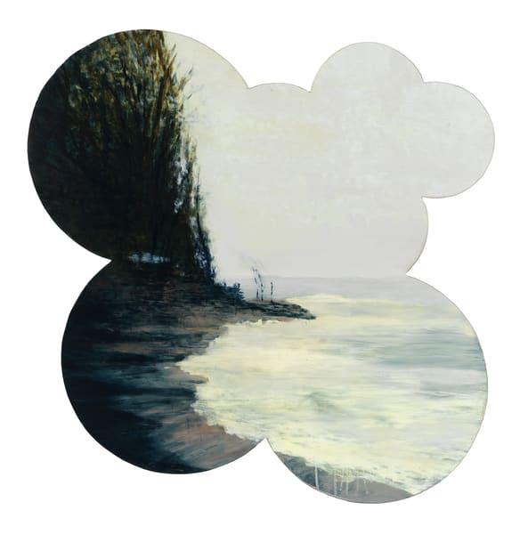 shaped painting-art, shaped landscape painting-art, winter coastline-art, Apostle Island landscape-art