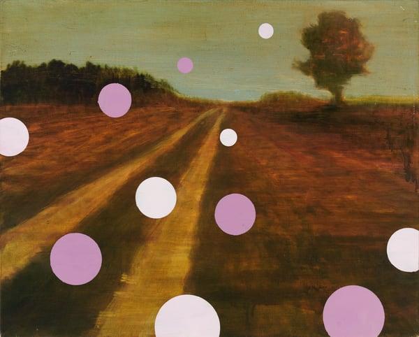 abstract landscape-art, polka dot landscape-art
