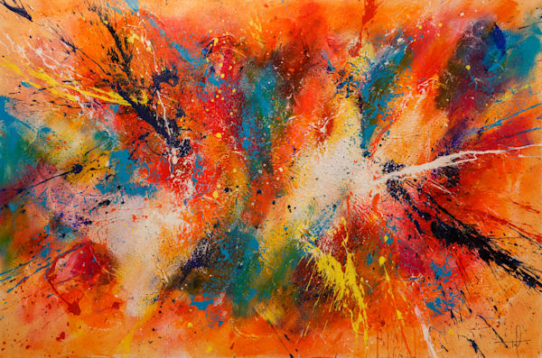 "Controlled Chaos Series, ""Orange"" Print"