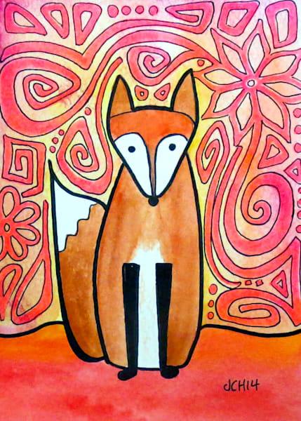 Neon Fox Art For Sale
