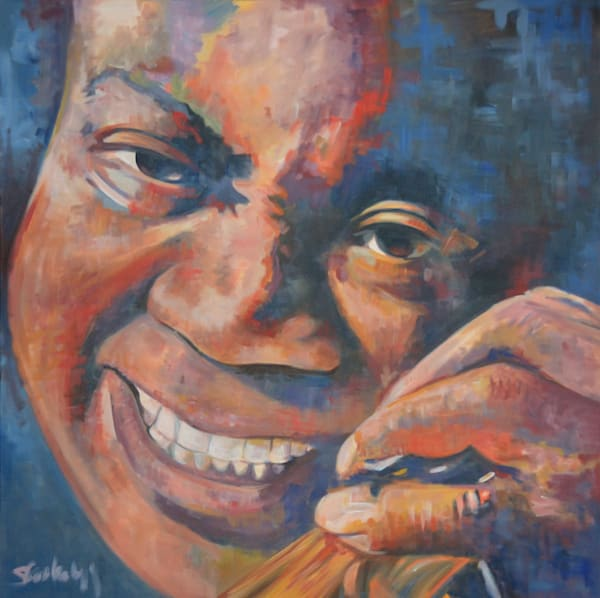 Louis Armstrong Fine Art Print by Steph Fonteyn