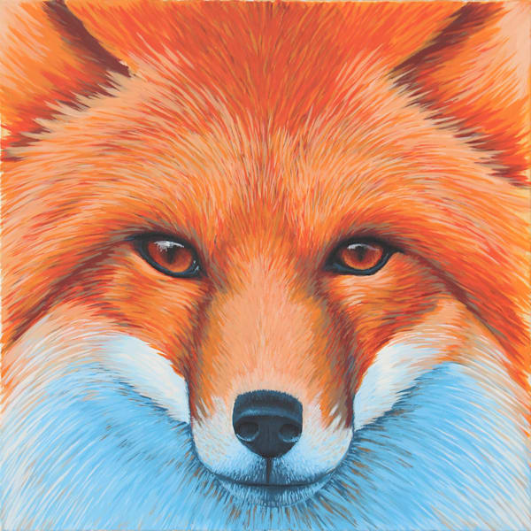 Zak the Fox Painting -  Animal Art by Zak D. Parsons