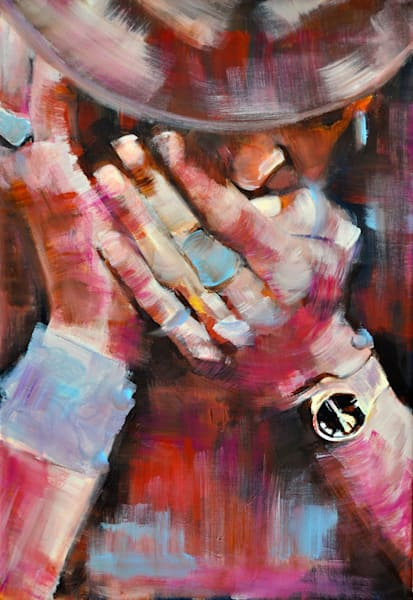 Harmonica Man Original Painting by Steph Fonteyn