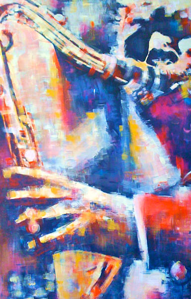 Jazz Colors II Original Acrylic Painting by Steph Fonteyn