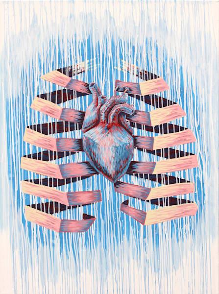 Frozen Heart, Paper Lungs - No. 1 - 'Heart & Skull' Art by Zak D. Parsons
