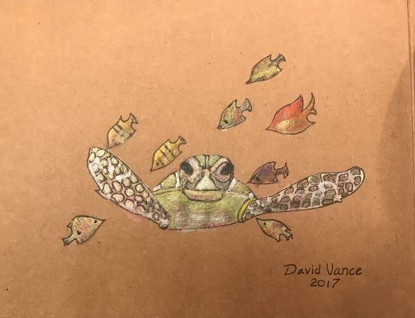 Turtle With Friends Art | DavidPVance Prints