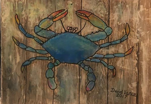 Blue Crab On Dock Art | DavidPVance Prints