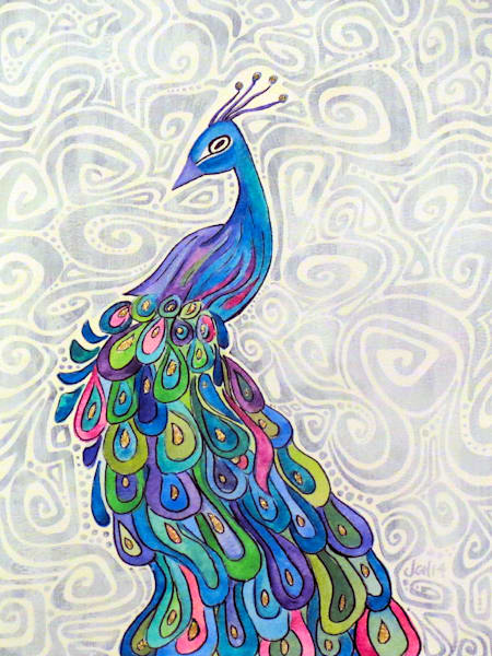 Groovy Peacock Art For Sale