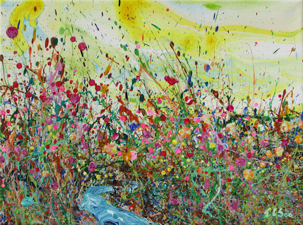 Lucky Mimulus/Abstract Wildflowers Painting/En Chuen Soo