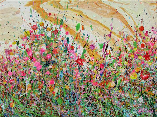 Twinkling Gilias/Original Wildflowers Art/En Chuen Soo