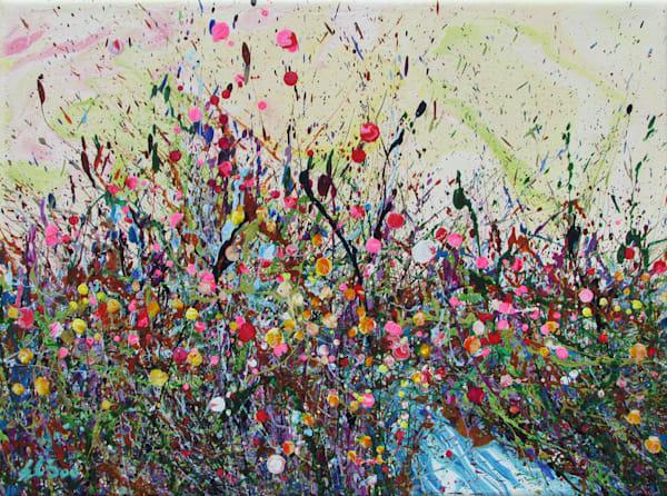 Dazzling Budbursting/Original Abstract Wildflowers Art/En Chuen Soo