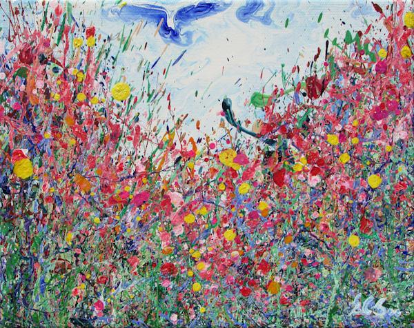 Enchanted/Original Abstract Wildflowers Art/En Chuen Soo