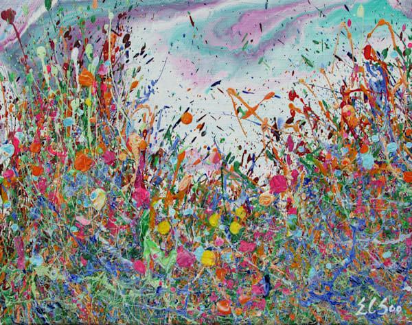 Delighted/Original Abstract Wildflowers Art/En Chuen Soo