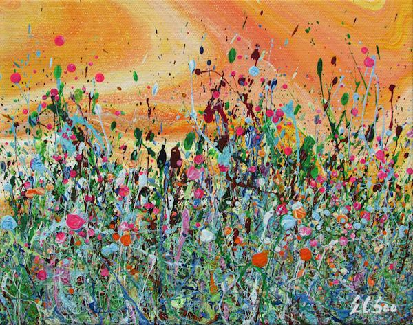 Cherished/Original Abstract Wildflowers Art/En Chuen Soo