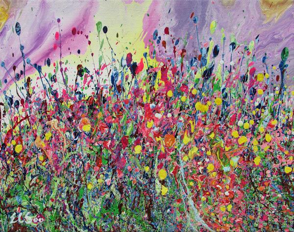 Devoted/Original Abstract Wildflowers Art/En Chuen Soo