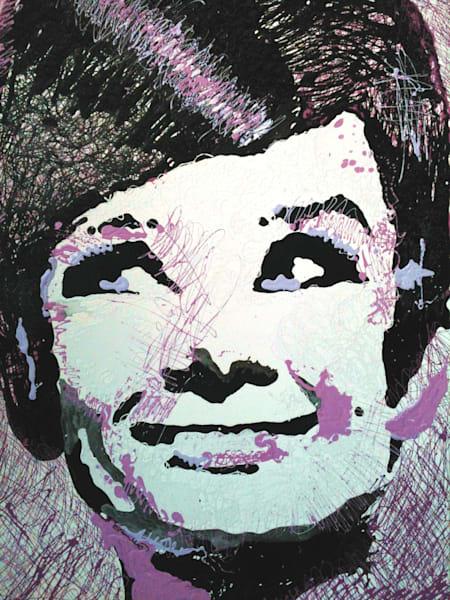 Original Audrey Hepburn Drip Painting by Steph Fonteyn