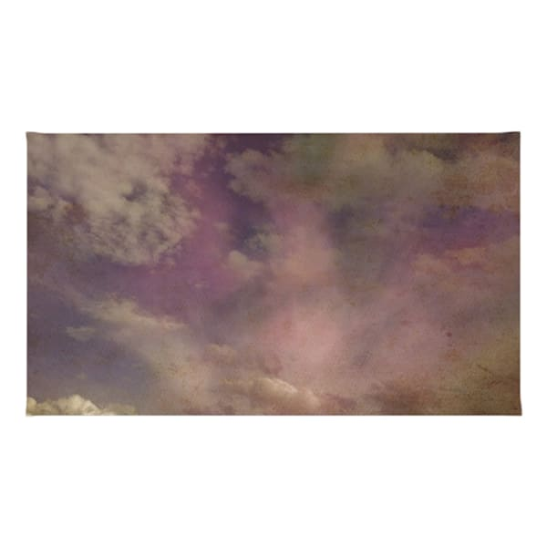 Abstract Clouds Throw Rugs