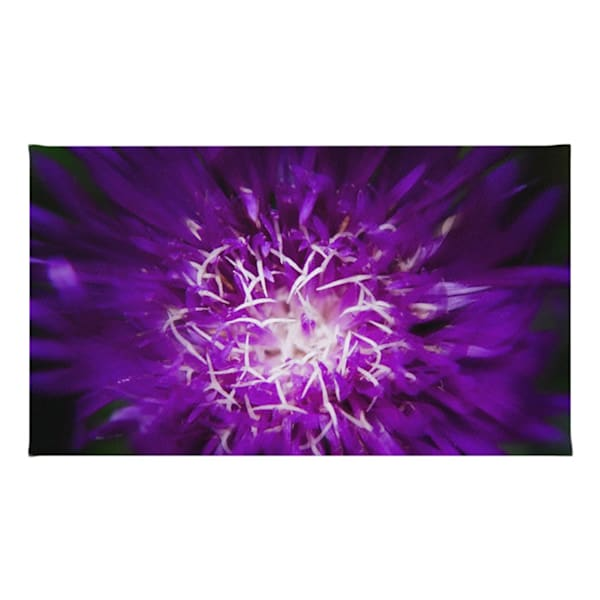 Abstract Flower Throw Rugs