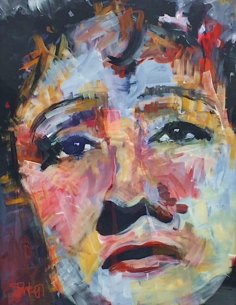 Edith Piaf Original Acrylic Painting by Steph Fonteyn