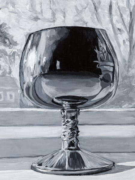 Prints of an the original oil painting, James's Silver Goblet, by artist Janet Jardine