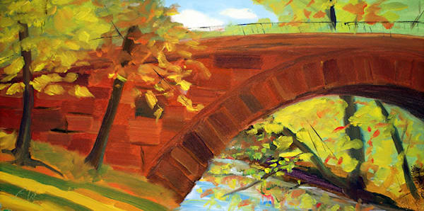 Olmsted's Riverway painting for sale