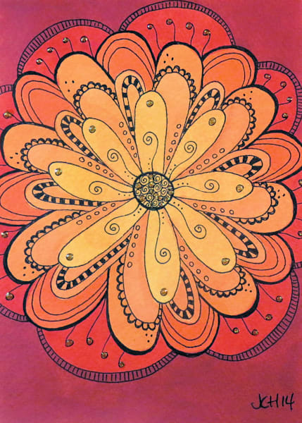 Progressive Watercolor Flower Art For Sale
