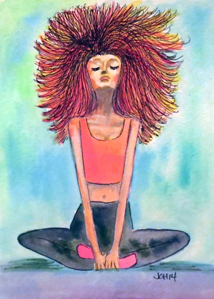 Serenity Yoga Girl Art For Sale