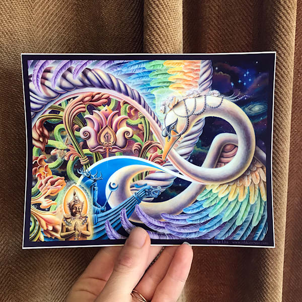Once I Meta Swan - Die Cut Art Stickers by Ishka Lha