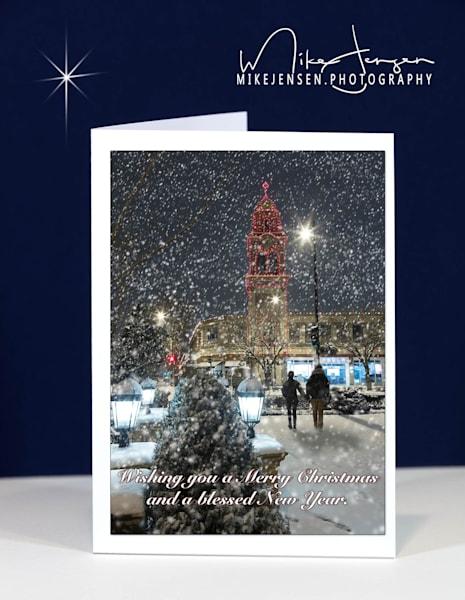 Snowy Stroll On Kansas City Plaza - Vertical
