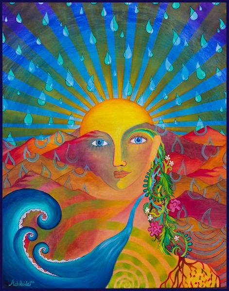 Sun and Earth environmental art
