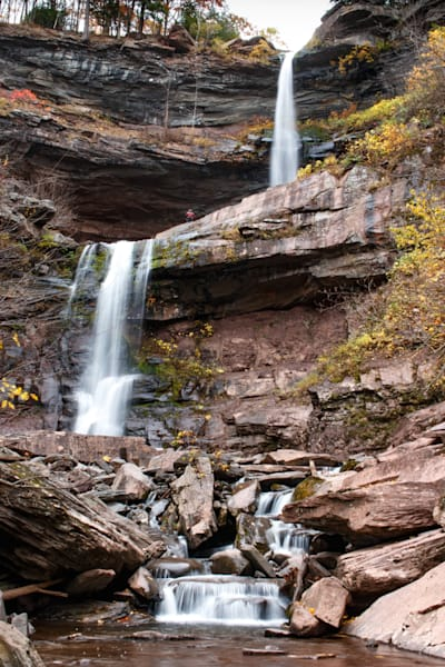Kaaterskill Falls waterfalls from the bottom of the terrain by Fine Art Photographer Steven Archdeacon.