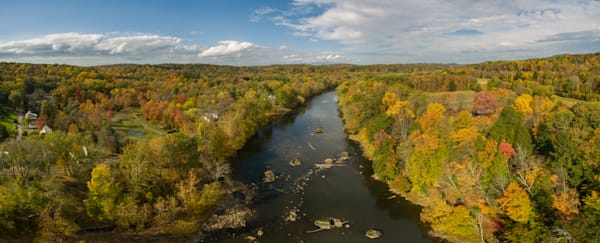 Rosendale Creek Trees Aerial Pano