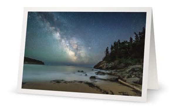 Milky Way Over Sand Beach