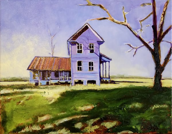 Old VA Home Place | Original Print of Southern VA Farmhouse