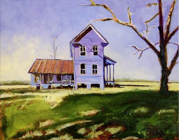 Old VA Home Place | Original Oil Painting of Old VA Farmhouse