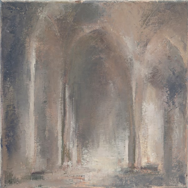 Church architecture paintings