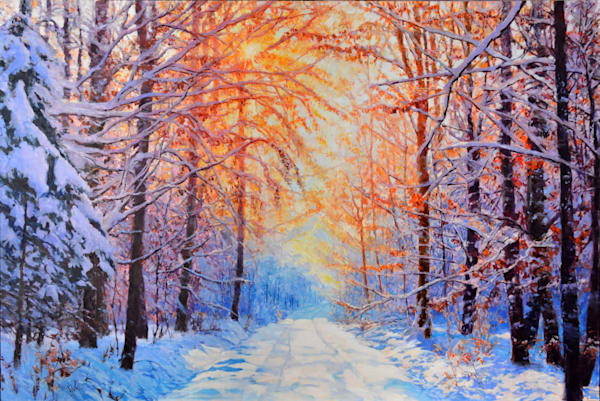 Early Snow original oil by Eric Wallis