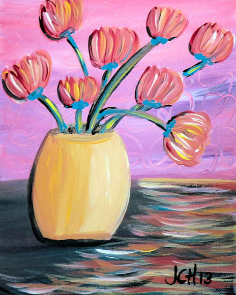Summertime Tulips Flower Art For Sale