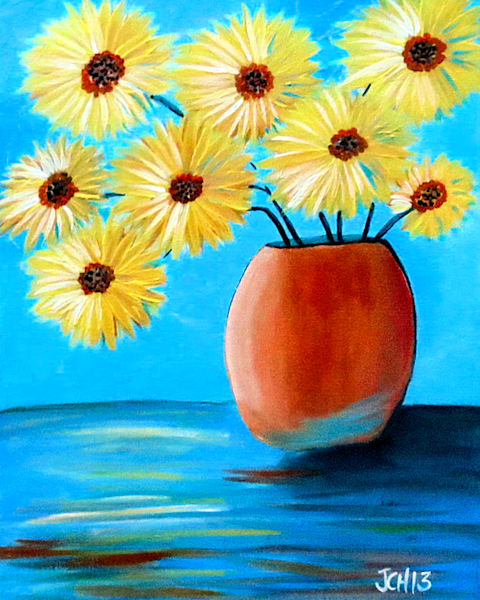 Yellow Flowers Art For Sale