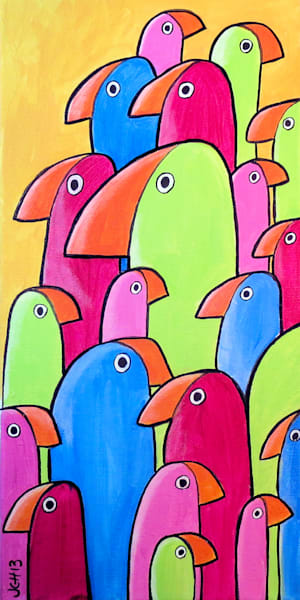 The Flock Bird Art For Sale