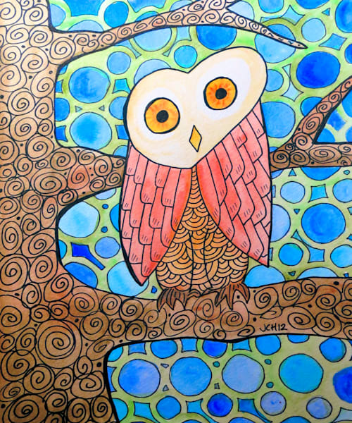 Funky Owl Art For Sale