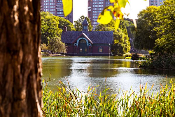 Harlem Meer in Central Park Photograph For Sale As Fine Art
