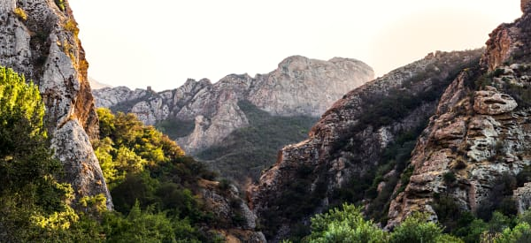 Goat Buttes in Malibu Creek State Park Panorama Photograph For Sale As Fine Art