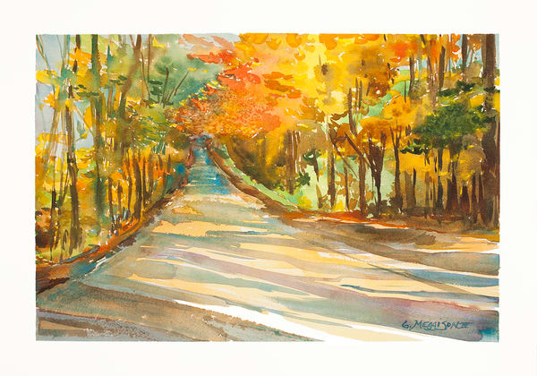 Autumn in Maine | Watercolor Landscapes | Gordon Meggison IV
