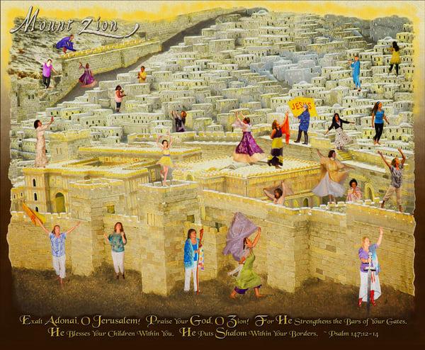 """Mount Zion Praise"" by Constance Wood | Prophetics Gallery"