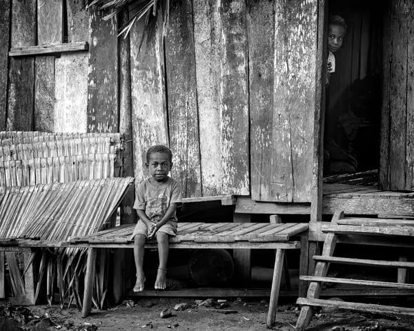 Gam Island Boy b&w - Raja Ampat, Indonesia 2013