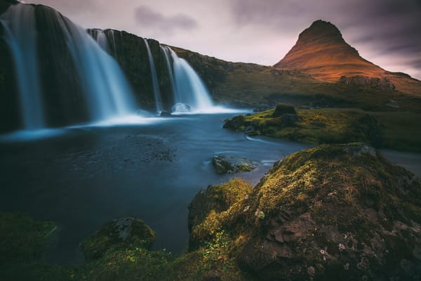 Iceland waterfall,