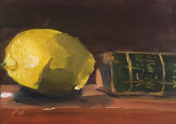 Lemon and Book painting by Paul William | Fine Art for Sale