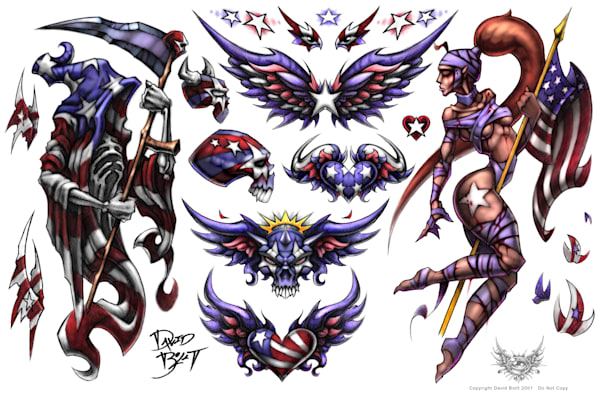 American Spirit - Tattoo Designs by David Bollt
